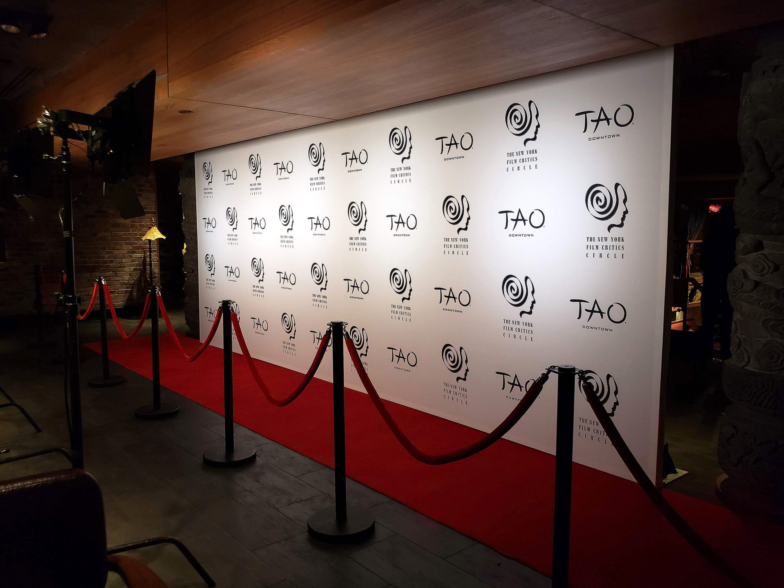 new york film critics circle awards red carpet backdrop production company